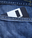Jeans pocket Diskette Royalty Free Stock Photo