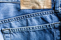 Jeans pocket and lean blank label Royalty Free Stock Photo