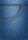 Jeans pocket vector background of blue Stock Photo