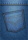 Jeans pocket vector background of blue Royalty Free Stock Photos