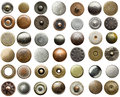 Jeans rivets metal collection Stock Photos