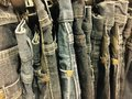 Jeans a row of Royalty Free Stock Images