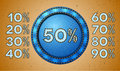 Jeans sale percent label Royalty Free Stock Images