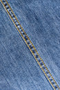 Jeans seam blue fabric with diagonal Royalty Free Stock Photo