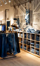 Jeans shop interior of modern Stock Photos