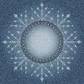 Jeans snowflake