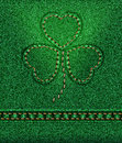Jeans St. Patrick's Day Shamrock Stock Images