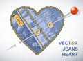 Jeans symbols vector hearts Royalty Free Stock Photography