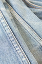 Jeans texture with seam background Royalty Free Stock Photo