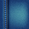 Jeans texture with stitch Stock Photography