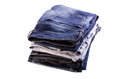 Jeans on a white background Royalty Free Stock Photography