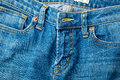 Jeans zip up in blue color Royalty Free Stock Image