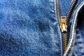 Jeans zipper Royalty Free Stock Photos