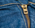 Jeans zipper close up shot of a Royalty Free Stock Photos