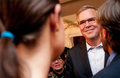 Jeb bush meets voters in dover new hampshire usa former florida governor republican at a house party this was s first Stock Image