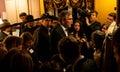 Jeb bush spotyka wyborców w dover new hampshire usa Obrazy Stock