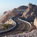 Jebel hafeet road famous near al ain united arab emirates Stock Image