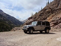 Jeep on Cinnamon Pass Stock Image