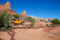 Jeep explores red rock country sedona arizona Stock Photo