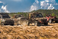 Jeep off road racing race on specially prepared jeeps cross country competitions Royalty Free Stock Photography