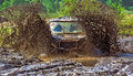 Jeep off road racing race on specially prepared jeeps cross country competitions Royalty Free Stock Photo