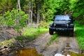 Jeep photo blind Royalty Free Stock Photo