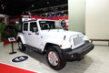 Jeep sahara wrangler unlimited car on display nonthaburi march at the th bangkok international motor show march in nonthaburi Royalty Free Stock Images