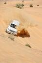 Jeep tour in the desert in Dubai Stock Photos