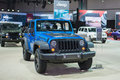 Jeep wrangler black bear Stockbild