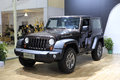 Jeep wrangler car exhibited in amoy city china Stock Photography