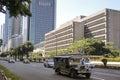 Jeepney ayala avenue metro manila philippines Royalty Free Stock Photo