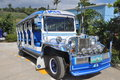 Jeepney in philippines unique local design using daily life of philippino Royalty Free Stock Photos