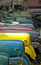 Jeeps found this shot in a junk yard of old cars Royalty Free Stock Image