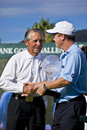 Jeff Sluman & Gary Player - NCGs2010 Stock Image