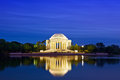 Jefferson memorial the at dusk washington dc usa Stock Photos