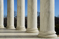 Jefferson memorial pillars in washington dc Royalty Free Stock Image