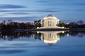 Jefferson Memorial Washington DC Blue Hour Royalty Free Stock Images