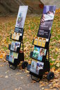 Jehova witnesses brochures at a park in poznan poland Royalty Free Stock Images
