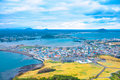 Jeju city south korea view from sunrise peak island is one of the unesco nature tourism site in Stock Photography