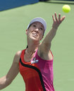 Jelena Jankovic of Serbia Serves Ball Stock Photo