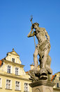 Jelenia gora well the neptune Stock Photo