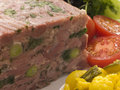Jellied Gammon and Leek Terrine with Piccalilli Royalty Free Stock Images