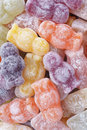 Jelly babies a soft confectionery shaped as in a variety of colours and flavours Stock Photography