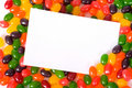 Jelly Bean Note-card Royalty Free Stock Photos