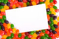 Jelly Bean Note-card Royalty Free Stock Images