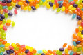 Jelly beans frame Stock Photo