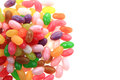Jelly beans isolated on the white background Stock Images