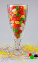 Jelly beans in parfait glass Royalty Free Stock Photo