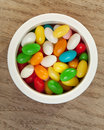 Jelly beans in round box Stock Image