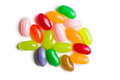 Jelly beans white background Stock Photography